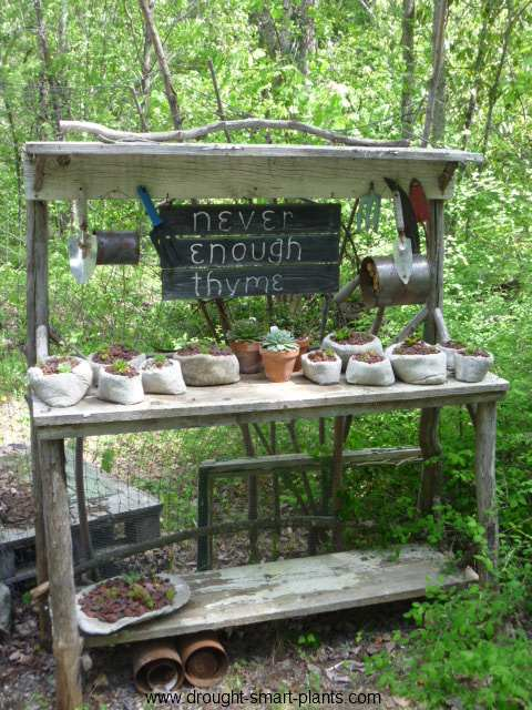 What are tools without a potting bench?