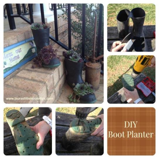 Make your own DIY Boot Planter
