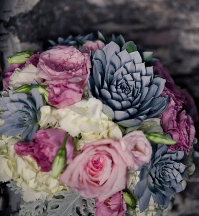 Lush, Succulent Wedding Flowers - get inspired with the Gallery