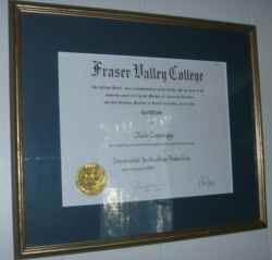 It was all worth it - the diploma