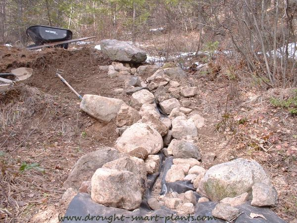 Dry Streambed under construction