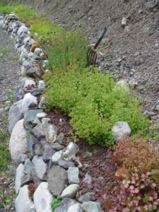 Rock Wall in the landscape - more here