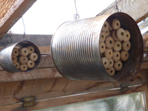 Finished Mason Bee houses