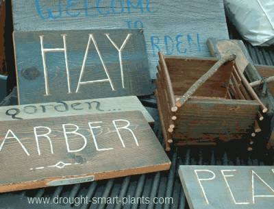 Rustic Garden Signs to decorate your garden are so much fun...