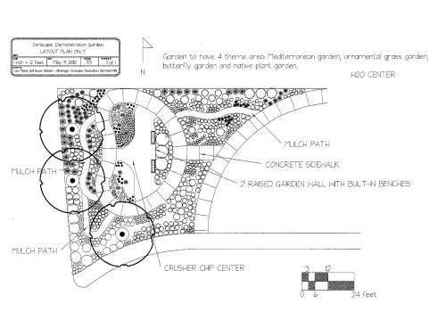 unh2o flower garden plan find out more about this project here - Garden Design Layout Plans