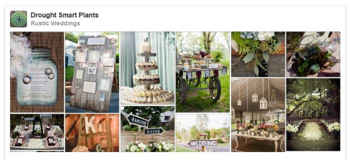 Planning a garden wedding?  Make it rustic!