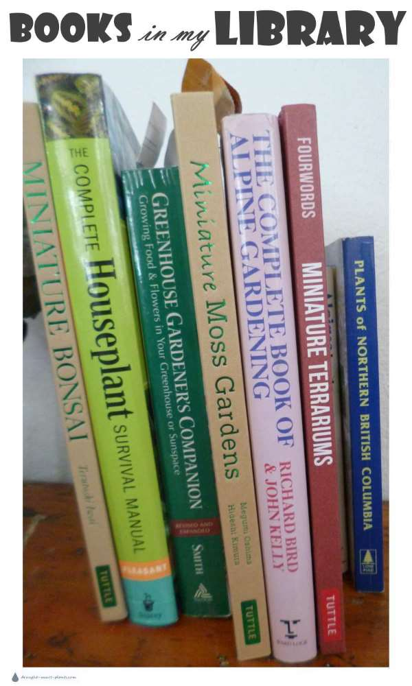 Books all about gardening, landscaping and plants in my Library