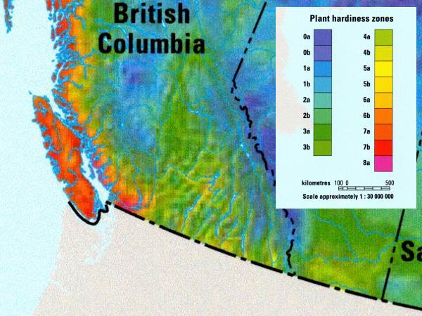 BC Canada Zone Map