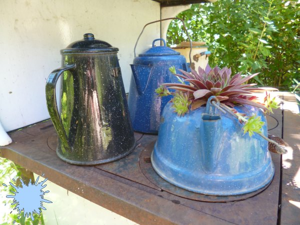 Blue Enamel Ware and Granite Ware