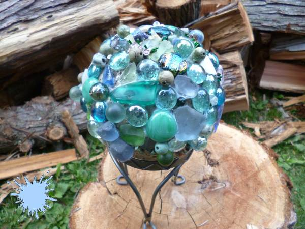 Gem Encrusted Gazing Ball