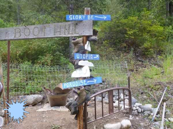 Boot Hill Direction Signs