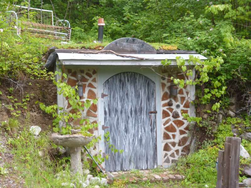 Glory Be, the earth sheltered root cellar