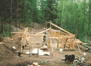 The Greenhouse under construction
