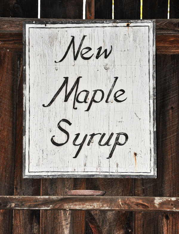 New Maple Syrup Sign