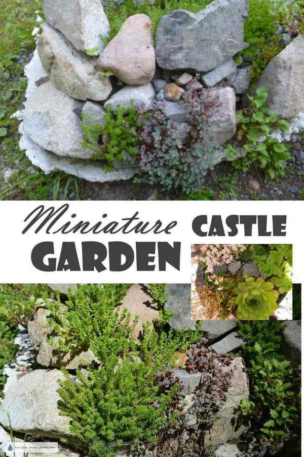 Miniature Castle Garden - Ruins; Small Scale