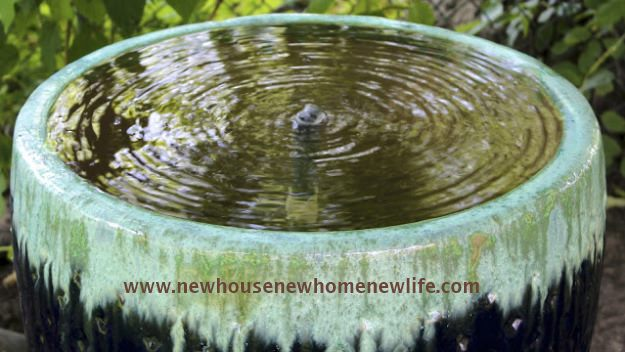 New House, New Home, New Life's tranquility water feature