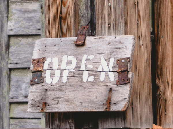Rustic Open Sign