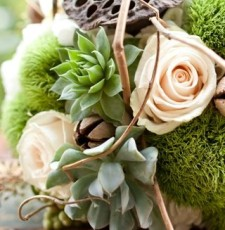 Wedding Bouquets made out of succulents?  What next?