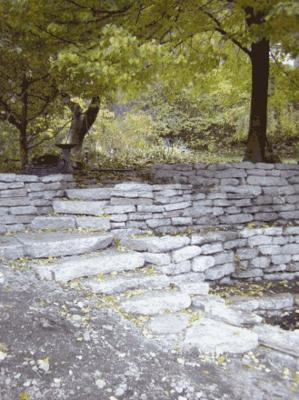 Urbanite - recycled concrete for retaining walls