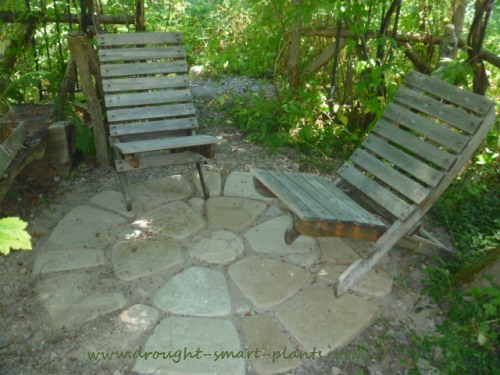 Build your own Patio for a rustic and charming place to relax
