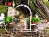 Tiny wire fencing - what could be better to surround your fairy garden?