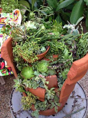 MJ's Broken Terra Cotta Succulent Pot Project
