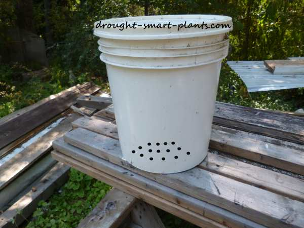Example of the pattern of holes in your diy koi pond filter