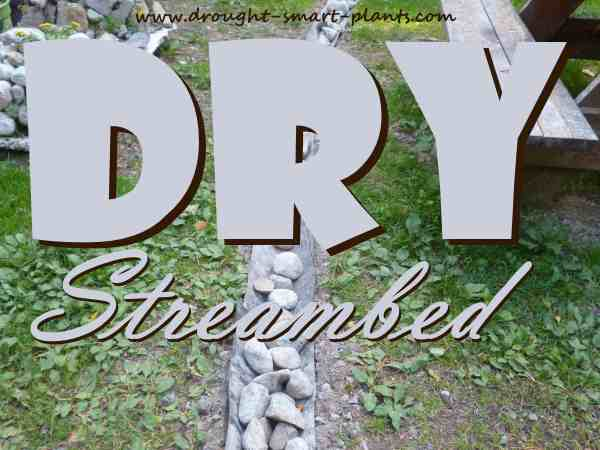 Dry Streambed - a waterless water feature...