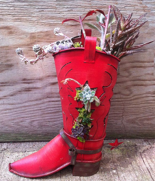 The Gardening Cook has a good use for cowboy boots...