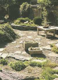 Stone Patio to display your trough gardens