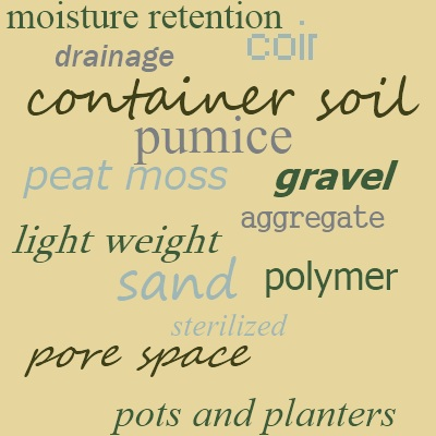 Requirements for container gardening soil; water retentive, yet well drained - not a paradox!