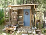 Wondering what the front of this shed looks like?  See the Eclectic Eggporeum on Blue Fox Farm...