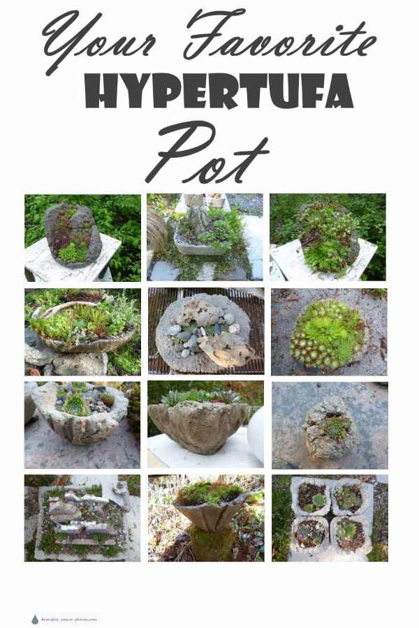 Your Favorite Hypertufa Pot, and what that says about you - find out your personality trait based on which planter appeals most...